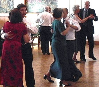 Swing dancing at a wedding